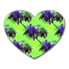 Palm Trees Lime In The Coconut Heart Mousepads