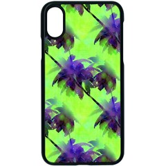 Palm Trees Lime In The Coconut Apple Iphone X Seamless Case (black)