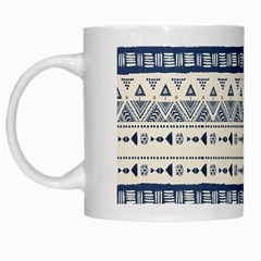 Native American Ornaments Watercolor Pattern Blue White Mugs by EDDArt