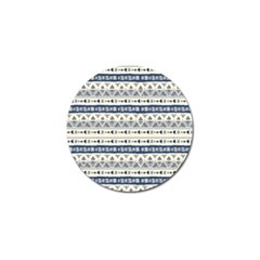 Native American Ornaments Watercolor Pattern Blue Golf Ball Marker (4 Pack) by EDDArt