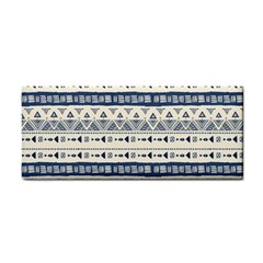 Native American Ornaments Watercolor Pattern Blue Hand Towel