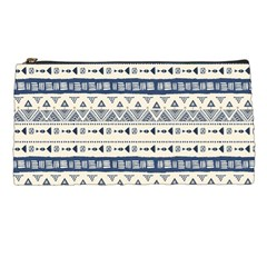 Native American Ornaments Watercolor Pattern Blue Pencil Cases