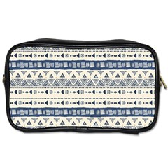 Native American Ornaments Watercolor Pattern Blue Toiletries Bags