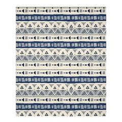 Native American Ornaments Watercolor Pattern Blue Shower Curtain 60  X 72  (medium)