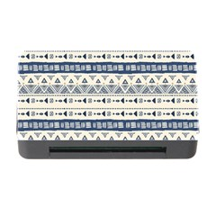 Native American Ornaments Watercolor Pattern Blue Memory Card Reader With Cf by EDDArt