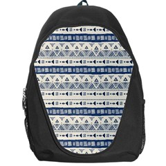 Native American Ornaments Watercolor Pattern Blue Backpack Bag by EDDArt