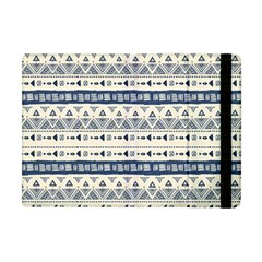 Native American Ornaments Watercolor Pattern Blue Apple Ipad Mini Flip Case by EDDArt