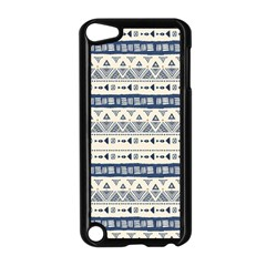 Native American Ornaments Watercolor Pattern Blue Apple Ipod Touch 5 Case (black) by EDDArt