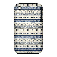 Native American Ornaments Watercolor Pattern Blue Iphone 3s/3gs by EDDArt