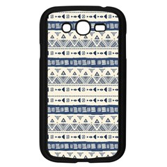 Native American Ornaments Watercolor Pattern Blue Samsung Galaxy Grand Duos I9082 Case (black) by EDDArt