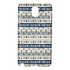 Native American Ornaments Watercolor Pattern Blue Samsung Galaxy Note 3 N9005 Hardshell Case by EDDArt
