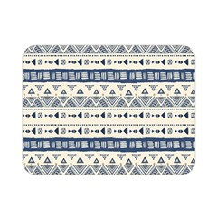 Native American Ornaments Watercolor Pattern Blue Double Sided Flano Blanket (mini)