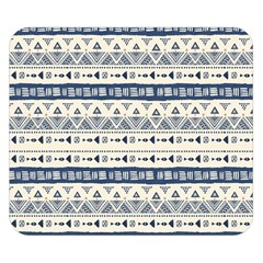 Native American Ornaments Watercolor Pattern Blue Double Sided Flano Blanket (small)