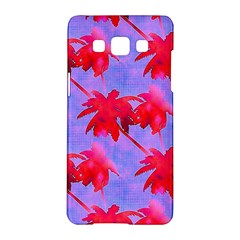 Palm Trees Neon Nights Samsung Galaxy A5 Hardshell Case  by CrypticFragmentsColors