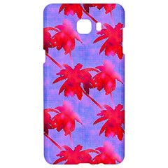 Palm Trees Neon Nights Samsung C9 Pro Hardshell Case  by CrypticFragmentsColors