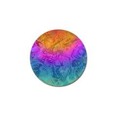 Fractal Batik Art Hippie Rainboe Colors 1 Golf Ball Marker (4 Pack) by EDDArt