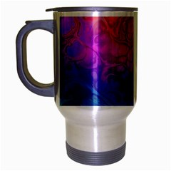 Fractal Batik Art Hippie Rainboe Colors 1 Travel Mug (silver Gray) by EDDArt
