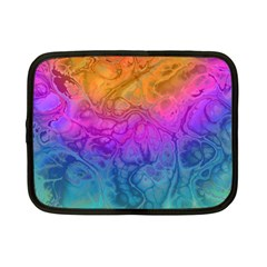 Fractal Batik Art Hippie Rainboe Colors 1 Netbook Case (small)