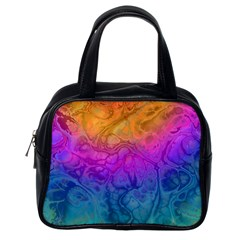 Fractal Batik Art Hippie Rainboe Colors 1 Classic Handbags (one Side) by EDDArt