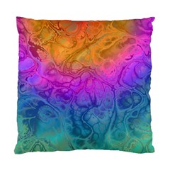 Fractal Batik Art Hippie Rainboe Colors 1 Standard Cushion Case (two Sides) by EDDArt