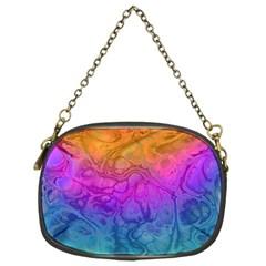 Fractal Batik Art Hippie Rainboe Colors 1 Chain Purses (two Sides)