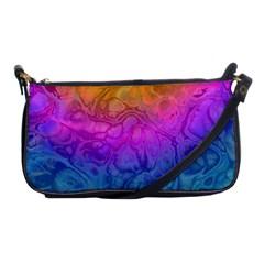 Fractal Batik Art Hippie Rainboe Colors 1 Shoulder Clutch Bags by EDDArt