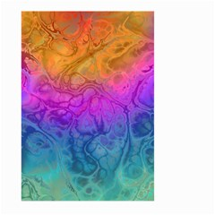 Fractal Batik Art Hippie Rainboe Colors 1 Large Garden Flag (two Sides) by EDDArt