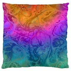 Fractal Batik Art Hippie Rainboe Colors 1 Large Cushion Case (one Side) by EDDArt