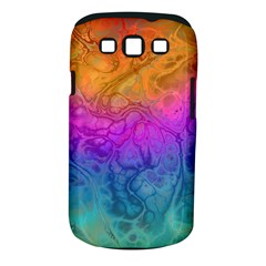 Fractal Batik Art Hippie Rainboe Colors 1 Samsung Galaxy S Iii Classic Hardshell Case (pc+silicone) by EDDArt