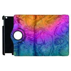 Fractal Batik Art Hippie Rainboe Colors 1 Apple Ipad 3/4 Flip 360 Case by EDDArt
