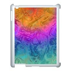 Fractal Batik Art Hippie Rainboe Colors 1 Apple Ipad 3/4 Case (white) by EDDArt