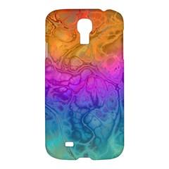 Fractal Batik Art Hippie Rainboe Colors 1 Samsung Galaxy S4 I9500/i9505 Hardshell Case by EDDArt