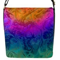 Fractal Batik Art Hippie Rainboe Colors 1 Flap Messenger Bag (s) by EDDArt
