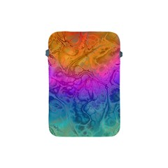 Fractal Batik Art Hippie Rainboe Colors 1 Apple Ipad Mini Protective Soft Cases by EDDArt