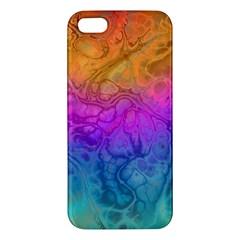 Fractal Batik Art Hippie Rainboe Colors 1 Iphone 5s/ Se Premium Hardshell Case by EDDArt