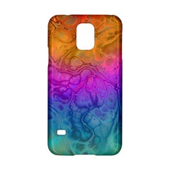Fractal Batik Art Hippie Rainboe Colors 1 Samsung Galaxy S5 Hardshell Case  by EDDArt