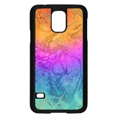 Fractal Batik Art Hippie Rainboe Colors 1 Samsung Galaxy S5 Case (black) by EDDArt
