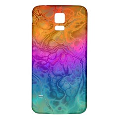 Fractal Batik Art Hippie Rainboe Colors 1 Samsung Galaxy S5 Back Case (white) by EDDArt