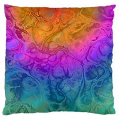 Fractal Batik Art Hippie Rainboe Colors 1 Standard Flano Cushion Case (one Side) by EDDArt