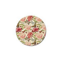 Watercolor Vintage Flowers Butterflies Lace 1 Golf Ball Marker (4 Pack)