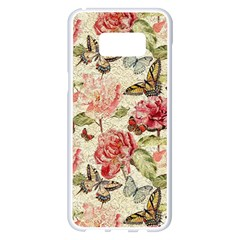 Watercolor Vintage Flowers Butterflies Lace 1 Samsung Galaxy S8 Plus White Seamless Case