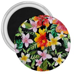 Tropical Flowers Butterflies 1 3  Magnets by EDDArt