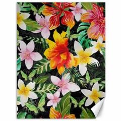 Tropical Flowers Butterflies 1 Canvas 36  X 48   by EDDArt