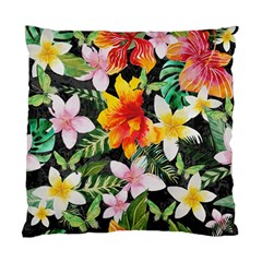 Tropical Flowers Butterflies 1 Standard Cushion Case (two Sides) by EDDArt