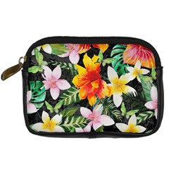 Tropical Flowers Butterflies 1 Digital Camera Cases