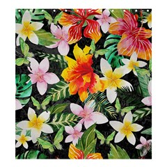 Tropical Flowers Butterflies 1 Shower Curtain 66  X 72  (large)  by EDDArt