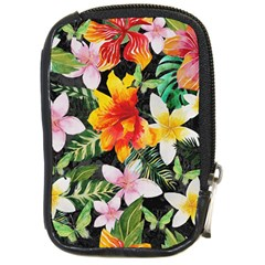 Tropical Flowers Butterflies 1 Compact Camera Cases by EDDArt