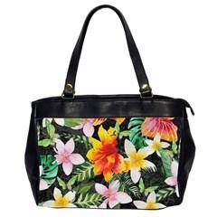 Tropical Flowers Butterflies 1 Office Handbags (2 Sides)  by EDDArt