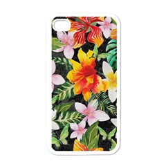 Tropical Flowers Butterflies 1 Apple Iphone 4 Case (white) by EDDArt