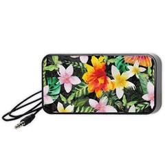 Tropical Flowers Butterflies 1 Portable Speaker by EDDArt